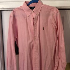 Ralph Lauren Classic fit pink oxford cloth shirt